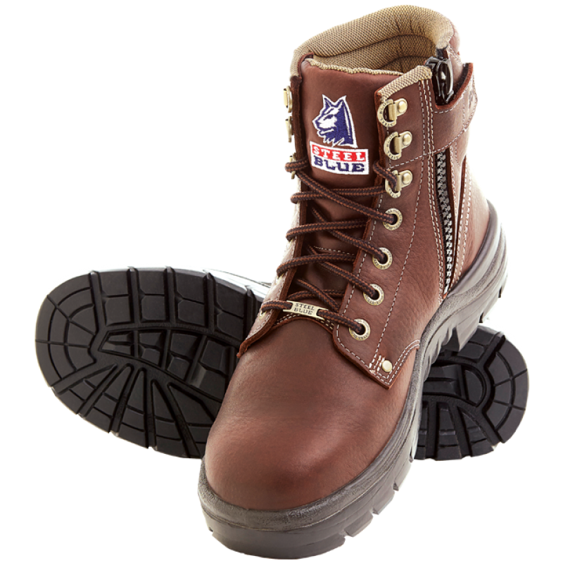 Steel Blue Argyle Zip 6 Quot Work Boots Steel Toe Cap