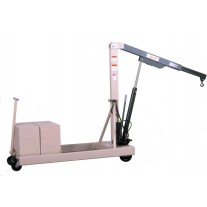 BEECH B-2000CW COUNTERWEIGHTED HYDRAULIC FLOOR CRANE W/ EXTENSION BOOM, 2,000 LB CAPACITY