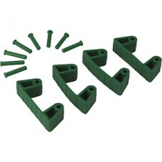 Wall Bracket Clips,4 Clips/8 Pins,RB,Green