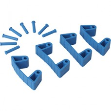 Wall Bracket Clips,4 Clips/8 Pins,RB,Blue