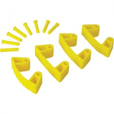 Wall Bracket Clips,4 Clips/8 Pins,RB,Yellow