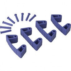 Wall Bracket Clips,4 Clips/8 Pins,RB,Purple