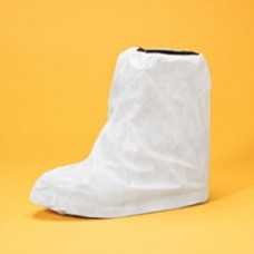 BOOT COVER - LAMINATED POLYPROPYLENE, ELASTIC OPENING & IN MIDDLE, WHITE THREAD, LARGE/XL, 100 PR / CASE