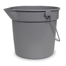 Tough Guy 2.5 gal. Gray Plastic Pail, 1 EA