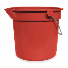 Tough Guy 2.5 gal. Red Plastic Pail, 1 EA