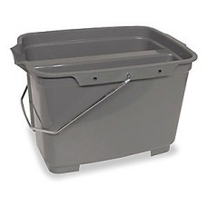 Tough Guy 4.75 gal. Gray Plastic Pail, 1 EA