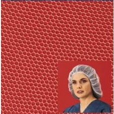 "HAIRNET - NYLON - HONEYCOMB - 100% LATEX FREE, WHITE, 28"", 1000 / CASE"