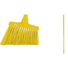 "Angle Cut Broom/Handle, 51"",Yellow"