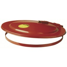 Justrite 26750 Drum Cover with Fusible Link for 55 gallon drum, self-close, steel, Red