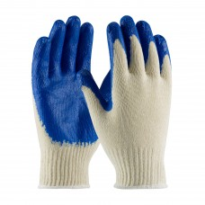 PIP 39-C122 Seamless Knit Cotton / Polyester Glove with Latex Coated Smooth Grip on Palm & Fingers - Regular Grade, Dozen