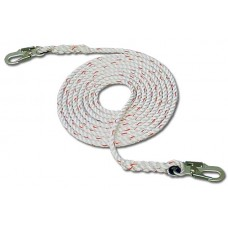 "French Creek 410 Series 5/8"" 3-Strand Polyblend Synthetic Lifeline w/ #74N Locking Snaps"