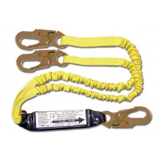 French Creek 440AS Dual Leg Elastic Shock Absorbing 6' Web Lanyard w/ Pack