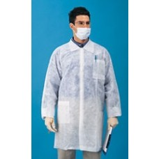 LAB COAT - KEYGUARD - 3 POCKETS - ELASTIC  WRISTS - SNAP FRONT - SINGLE COLLAR, 30 / CASE