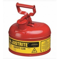 Justrite 7110100 Type I Safety Can, 1 Gal, Red