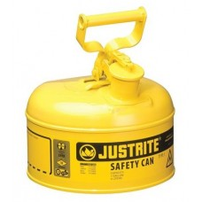 Justrite 7110200 Type I Safety Can, 1 Gal, Yellow