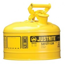Justrite 7125200 Type 1 Safety Can, 2-1/2 Gal, Yellow