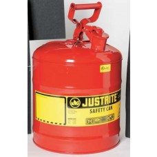 Justrite 7150100 Type 1 Safety Can, 5 Gal, Red