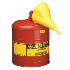 Justrite 7150110 Type 1 Safety Can, 5 Gal, Red