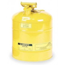 Justrite 7150200 Type 1 Safety Can, 5 Gal, Yellow