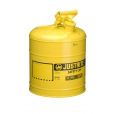 Justrite 7150200 Type I Steel Safety Can for Diesel, 5 gallon, Yellow