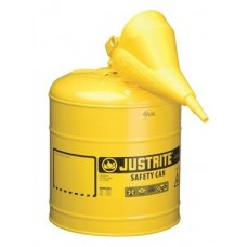 Justrite 7150210 Type 1 Safety Can, 5 Gal, Yellow