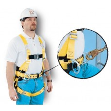 French Creek 850B-TS Full Body Harness with Hip Positioning D-Rings and Front Center D-Ring on Belt for Vertical Climbing Systems