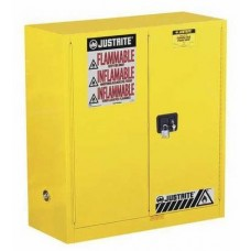 Justrite 893000 Flammable Safety Cabinet, 30 Gal., 1 Shelf, Yellow