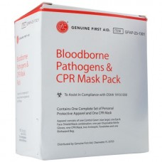 Genuine First Aid Bloodborne Pathogens CPR Mask Pack Refill Pack