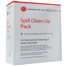 Genuine First Aid Bloodborne Pathogens Spill Clean-Up Refill Pack