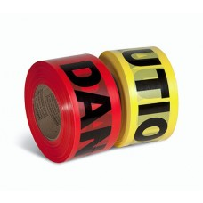 "Primeguard 1.5 Mil Value Grade Barricade Tape, 3"" x 1000', CAUTION, 12/Rolls"