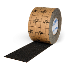 "True Grip Non-Skid Tape, 3"" x 60' Black, 4/Case"