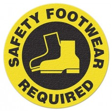 SAFETY FOOT WEAR REQUIRED Safety Floor Graphic, Anti-Slip