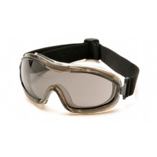 Pyramex G724T Chemical Splash Goggles, Low Profile, Gray Lens, Anti-Fog