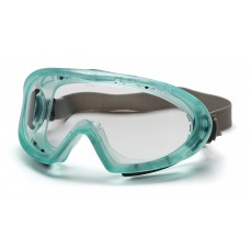Pyramex GC504TN Capstone Safety Goggles Chemical Green Frame Clear Lens Anti-Fog