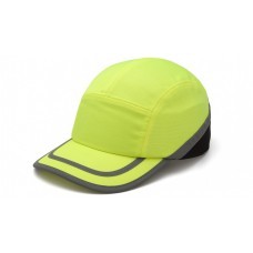 Pyramex HP50031 Baseball Bump Cap Hi Vis Lime / Yellow