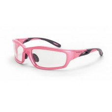Crossfire 2254 Infinity Safety Glasses Clear Lens Pearl Pink Frame