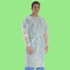 ISOLATION GOWN - PE LAMINATED POLYPROPYLENE - REAR ENTRY WITH EXTRA LONG TIES, 50 / CASE
