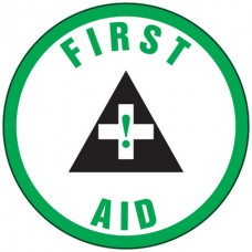 First Aid Hard Hat Sticker, 2-1/4""