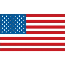"American Flag Hard Hat Sticker, 1"" x 1-3/4"""