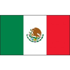 "Mexican Flag Hard Hat Sticker, 1"" x 1-3/4"""
