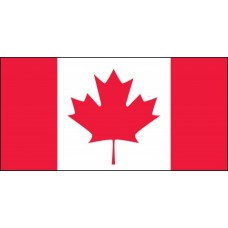 "Canadian Flag Hard Hat Sticker, 1"" x 1-3/4"""