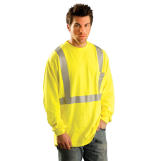 OccuNomix Classic Hi Vis Yellow / Lime Flame Resistant Long Sleeve T-Shirt HRC 2