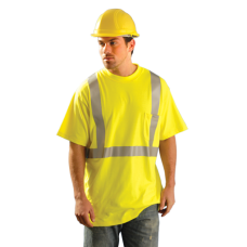 OccuNomix Classic Hi Vis Yellow / Lime Flame Resistant Short Sleeve T-Shirt HRC 2