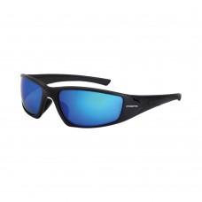 Crossfire RPG Safety Eyewear Blue Mirror Polarized Lens Black Frame