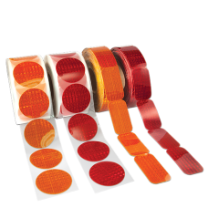 Reflex Reflective Stick-On Reflectors, 50 Per Roll