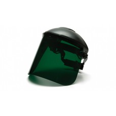 """Pyramex PETG Face Shield Only 8"""" X 15""""  /.040 thick, Dark Green"""