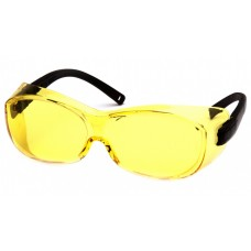 Pyramex S3530SJ OTS Safety Glasses Black Temples Amber Lens