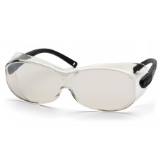 Pyramex S7580SJ OTS XL Safety Glasses Indoor / Outdoor Mirror Lens Black Temples
