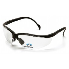Pyramex Venture II Readers Safety Glasses, Black Frame, Clear Lens, +2.0 Mag