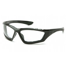 Pyramex Accurist Safety Glasses, Black Frame, Clear Lens, Anti-Fog